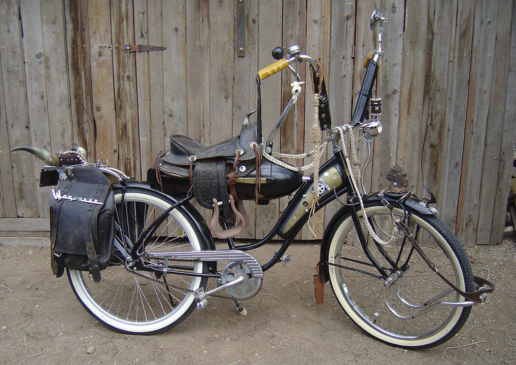 Old Fat Tire Bicycle Tricked Out With A Saddle I Am Northern Born Southern Raised And Western Souled Had Many American Made Hotrods In My Youth